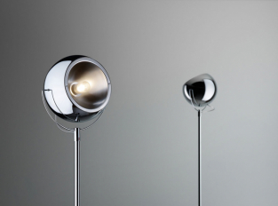 Stojací lampa Beluga Steel D57