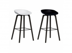 AAS 32 Bar Stool AAS32 black base, black and white shell