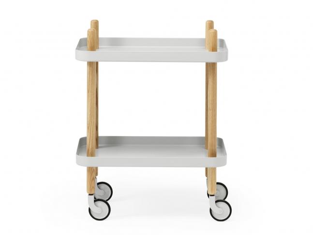 Servírovací stolek Block Table block-svetle-seda