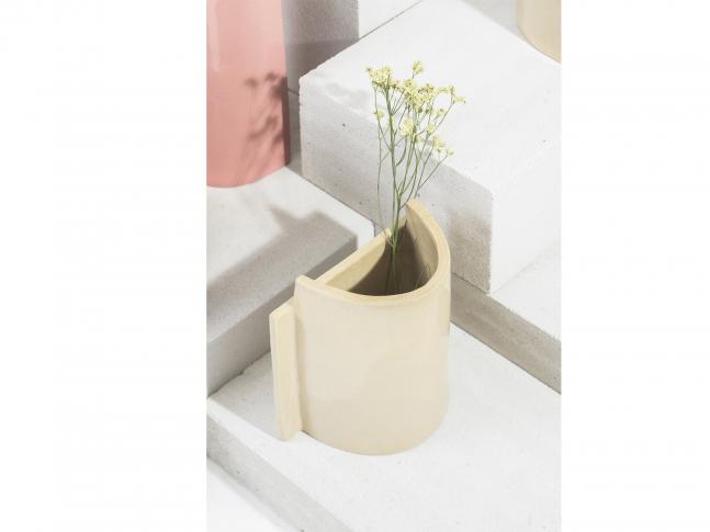Keramická váza Blocks malá Blocks_váza_krémová