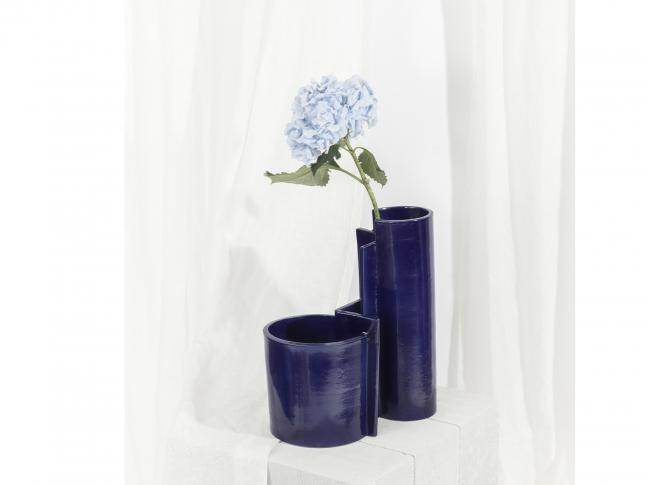 Keramická váza Blocks malá Blocks_váza_modrá_modrá