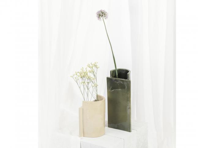 Keramická váza Blocks velká Blocks_váza_zelená_krémová