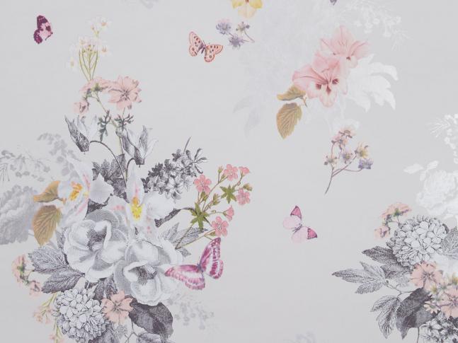 Látka Botanical Bouquet Ivory