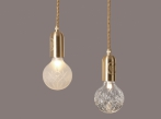 FROSTED CRYSTAL BULB & PENDANT