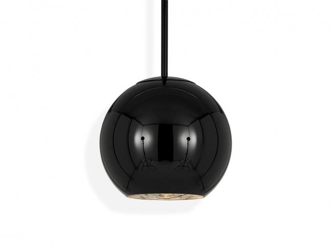 Copper Round Pendant Black