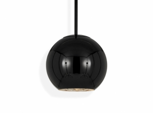 Copper Round Pendant Black