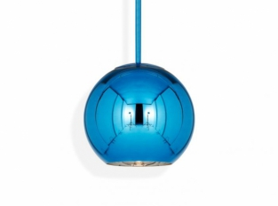 Copper Round Pendant Blue