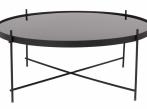 LOOOOX odkládací stolek černý s křížovou nohou L Cupid-XXL-black