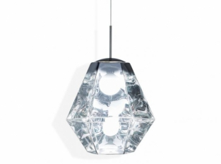 Cut Tall Pendant Chrome