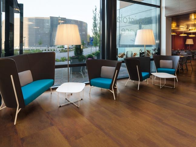 Vinylová podlaha - design rezavý kov