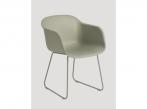 Fiber Chair Fiber Sled Dusty Green