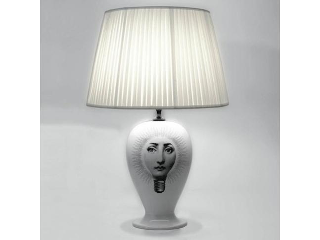 Base lampada Lampadina Fornasetti, Base lampada Lampadina bianco:nero