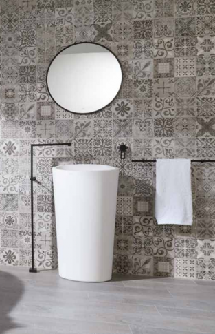 PORCELANOSA - OXFORD SILVER, ANTIQUE GREY
