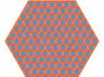 Hexagon Carpet Hexagon Carpet - červenomodrý