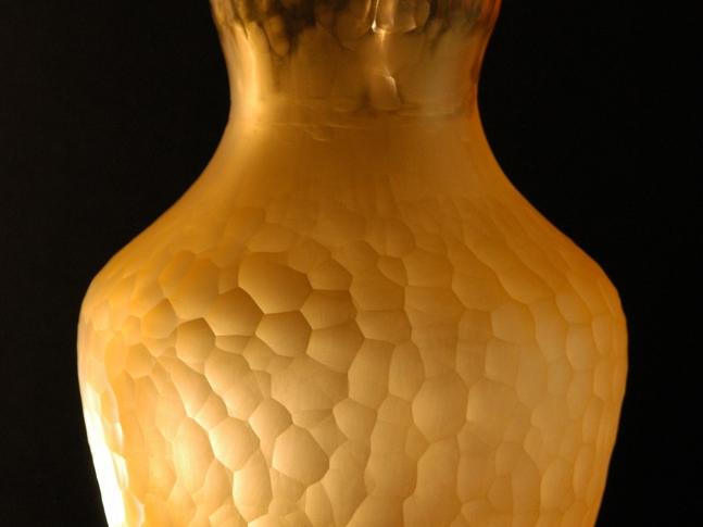 Kolekce váz z uranového skla - ,,Honey,, a ,,Stébla a Trávy,, Honey vase