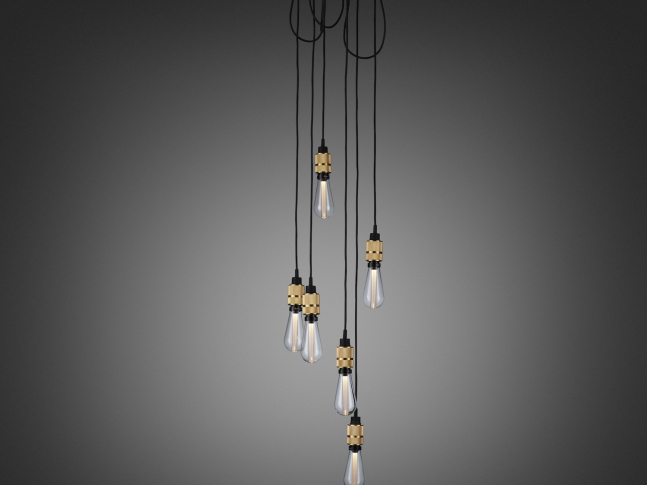 Hooked 6.0 Nude HOOKED 6.0 nude brass with buster bulb crystal ON