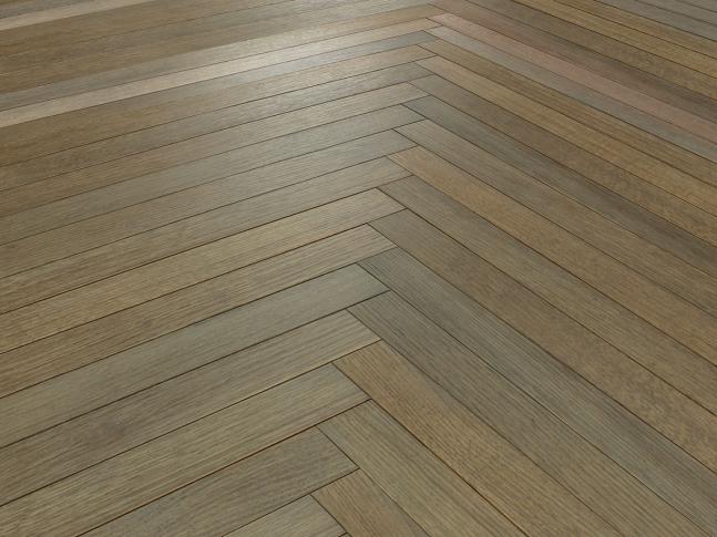 Dřevěná podlaha Herringbone Oak Sky