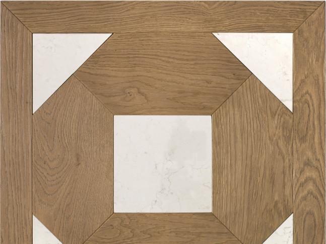 Dřevěná podlaha Oak and white stone