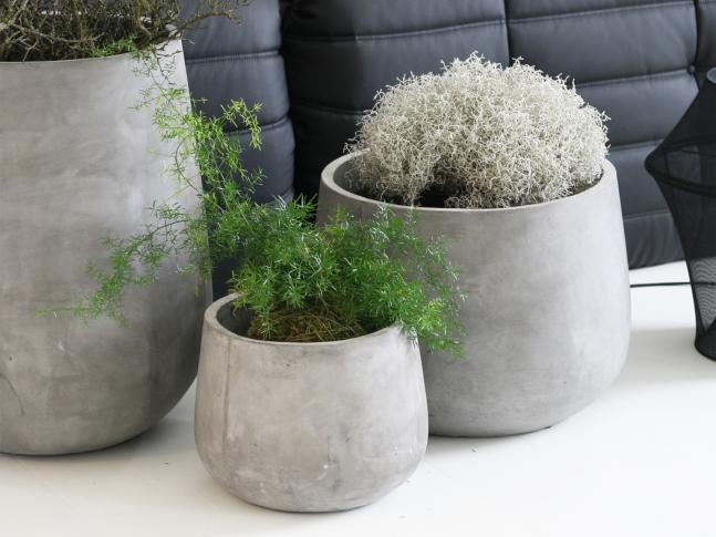 LOOOOX betonový květináč nízká báně M