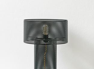 LOOOOX lampa černá perforovaná ocel malá