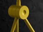Kanárkově žlutý Radon - stojací lampa