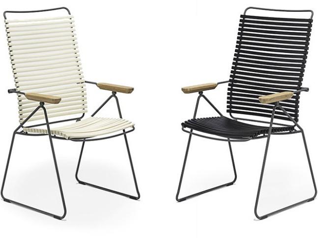 Polohovatelná židle s područkami Houe Click