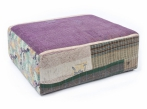Otoman Hay Mags Antique Quilt