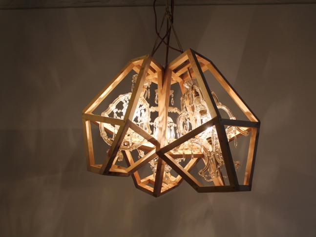 Závěsná lampa Crystal