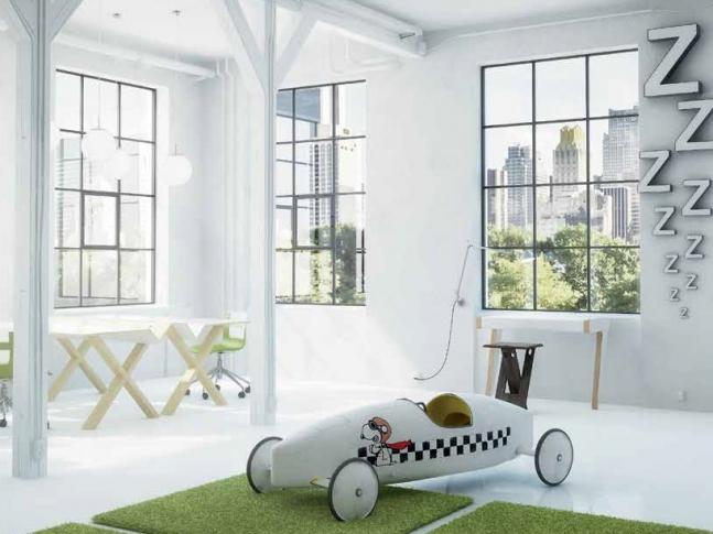 Kusový koberec Fletco rug do bytů i kanceláří Zelený koberec s netradičním tvarem vhodný například do dětského pokoje.