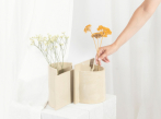 Keramická váza Blocks malá na šírku_2