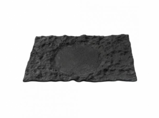 Pordamsa Crater glass tray 29x18cm