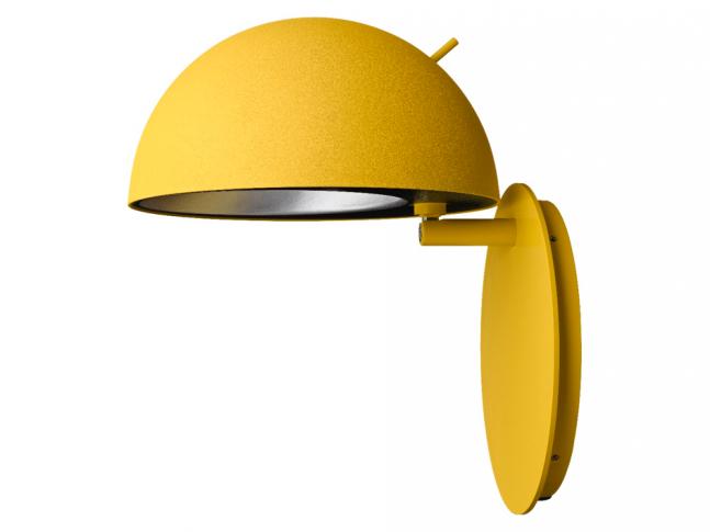 Kanárkově žlutý Radon - nástěnná lampa