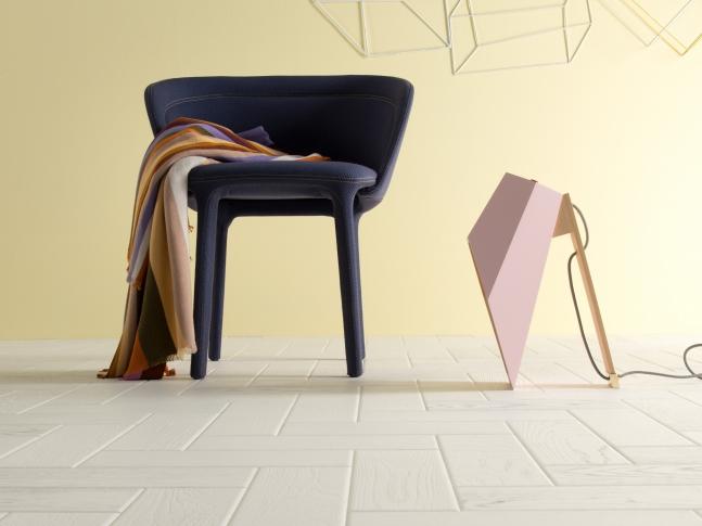 Emotions & Colours - dřevěné podlahy Dřevěná podlaha Mardegan, kolekce Emotions & Colours, ve světlé barvě.