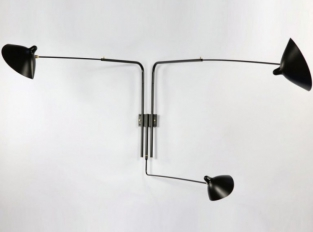 Serge Mouille Rotating Sconce 3 arm