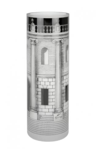 Glass Vase Casa con Colonne