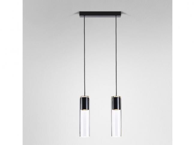 Závěsná lampa Modern Glass Tube 2 GU10