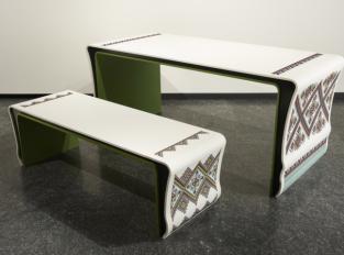 Stůl a lavice Ukrainian Pattern