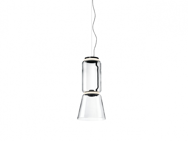 Lampa Noctambule Suspension 1 Low Cylinder and Cone