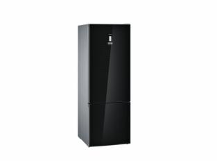 iQ700 Volně stojící chladnička s mrazákem Černá