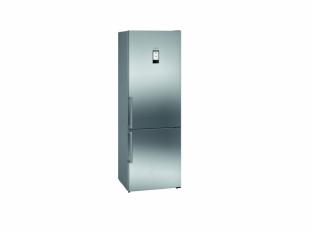 iQ500 Volně stojící chladnička s mrazákem Nerez
