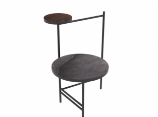 Stolek COLUMN STRUCTURE DARK BLACK AMERICANO