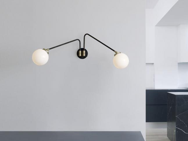 Nástěnná lampa Array Twin Opal