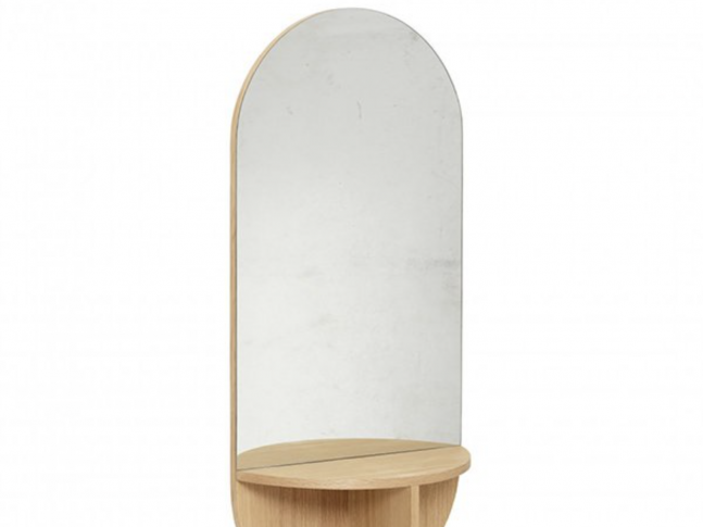 Zrcadlo Hübsch Wall Mirror with Shelf