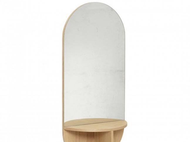 Zrcadlo Hübsch Wall Mirror with Shelf