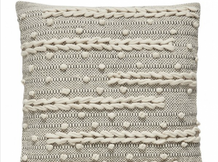 Polštář Hübsch Cushion černobílý