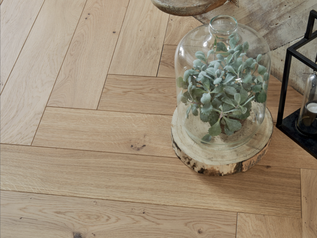 Podlaha FRENCH OAK AUTHENTIC BOIS FLOTTÉ HERRINGBONE 139