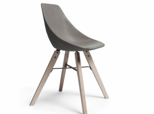 Lyon Beton židle Hauteville Plywood