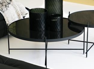 LOOOOX odkládací stolek černý s křížovou nohou L