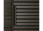 Stripe Rimadesio Stripe, hnědá hliníková struktura s šedým průhledným sklem