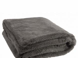 LOOOOX kožešinový přehoz tmavě šedý